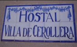 Cartel Hostal Villa de Cerollera