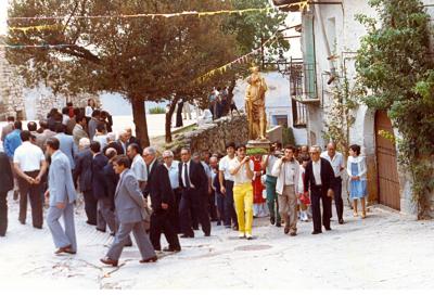 Fiestas 1983-84 procesion