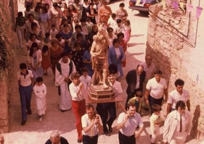 Fiestas 1983-84 subida procesion