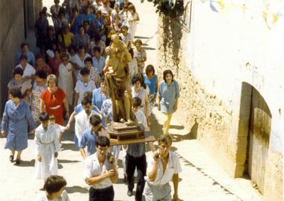 Fiestas 1986 subida procesion