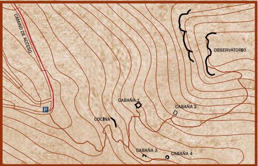 Plano cabañas de la guerrilla