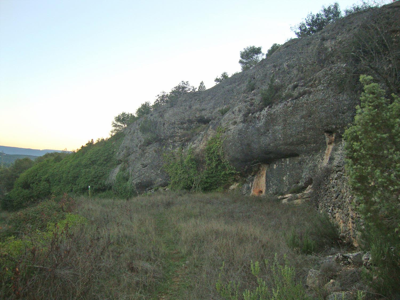 Llegada a Cova del Molí