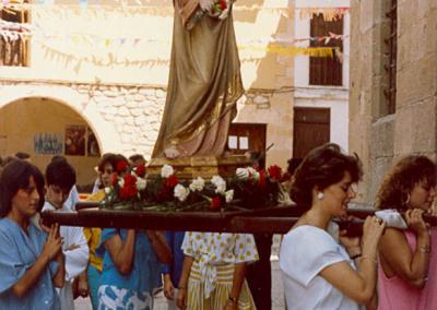 Fiestas 1986 procesion virgen